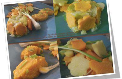 Fondue de poireaux & déclinaison de pomme de terre douce