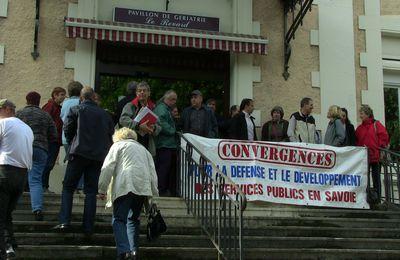 Maternité d'Aix les Bains la mobilisation continue