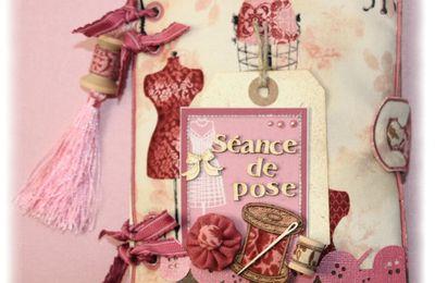 """Mini album """"Séance de pose"""" Dame de Kit"""