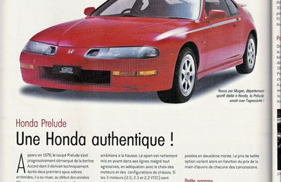 GUIDE D'ACHAT OCCASION HONDA PRÉLUDE 4G OPTION AUTO N°129 MARS 2002
