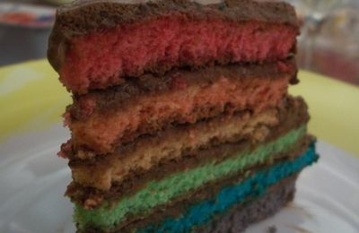 gateau rainbow