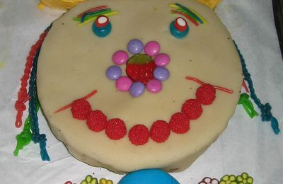 gateau rigolo : clown