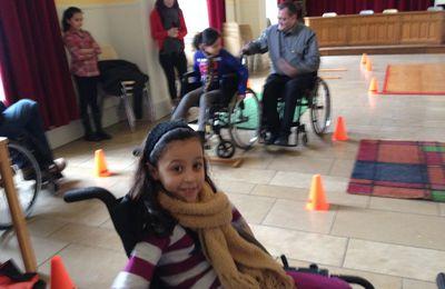 La rencontre avec deux personnes handicapées