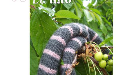 The lined Scarf... Le tuto !