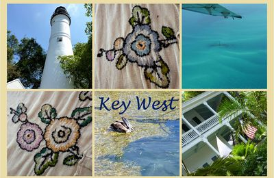 "Fleur Key West... ""reproduction"" / inspiration d'anciennes broderies"
