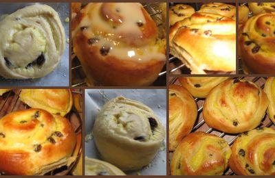 Couques suisse ou escargots raisins crème pâtissière mmmiam!