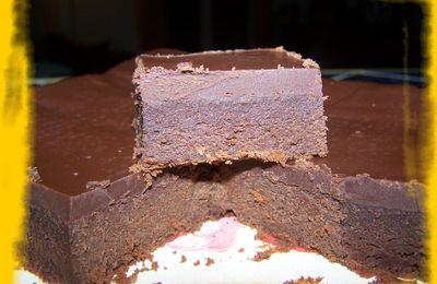Fondant choco-mascarpone, glaçage au chocolat