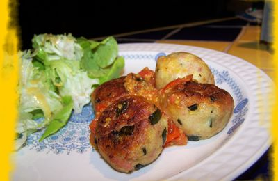 Croquettes courgette -jambon aux fromages