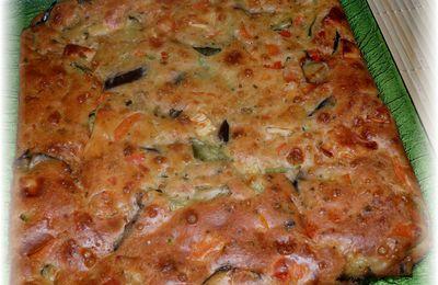 Gâteau aux légumes et aux fromages