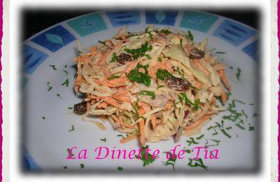 Salade de Chou Blanc au Conté et Raisins