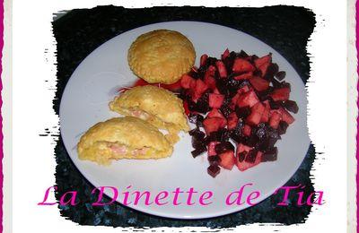 Salade de Betterave aux Pommes et Feuilletés Jambon/Fromage