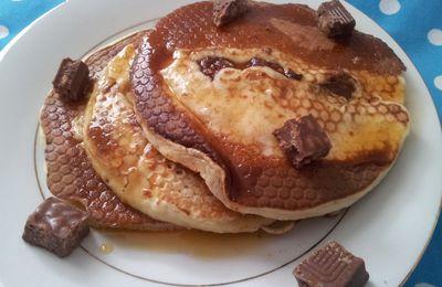 Pancake aux pépites de chocolat et a la cannelle