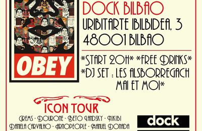Mister Ride à Bilbao pour l'OBEY ICON TOUR
