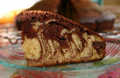 Gâteau marbré au lait concentré sucré