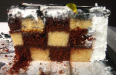 Eggless Chess Cake (inside outside both)