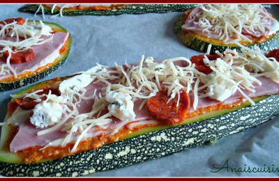 Courgette pizza ! Un délice light