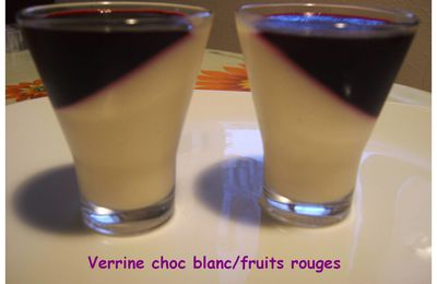 Panna cotta chocolat blanc & fruits rouges