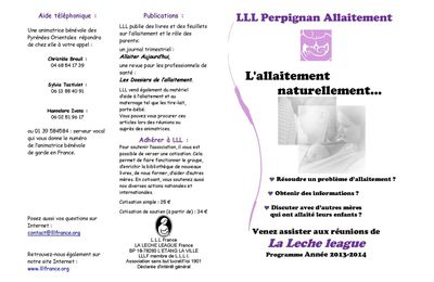 Infos sur les réunions d'allaitement LLL dans le Vallespir et à Perpignan