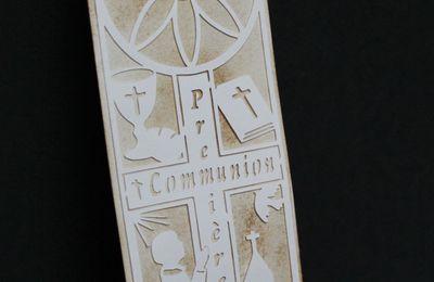Carte de communion - marque-page