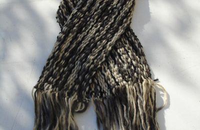 Une écharpe en ..... tissage ????