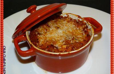 Gratin de pâtes, aubergines & 4 fromages