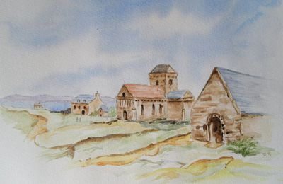 Ecosse - Abbey - Aquarelle