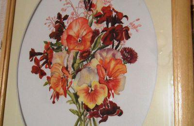 bouquet de pensées - aquarelle