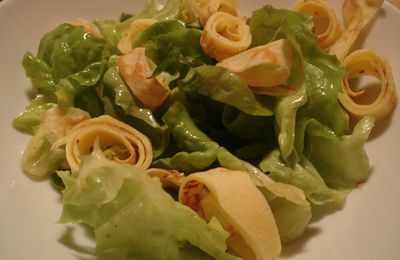 SALADE AUX CREPES