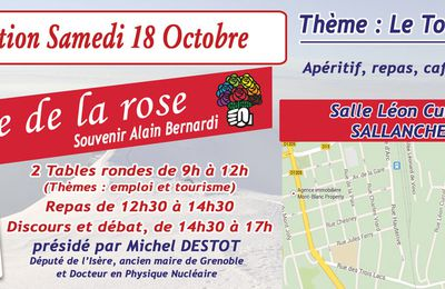 Invitation fête de la rose