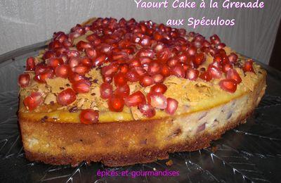 Yaourt Cake à la grenade aux Spéculoos