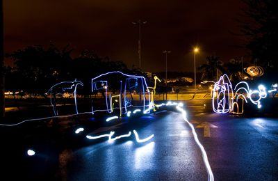 Light painting - the village
