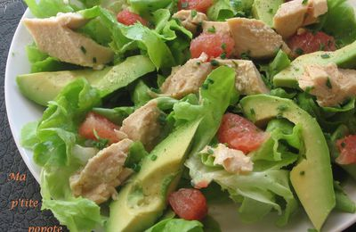 Salade au filet de saumon