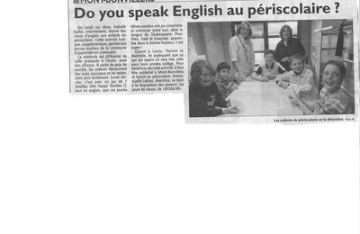 Do you speak English au périscolaire