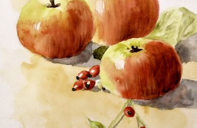 LES FRUITS EN AQUARELLE