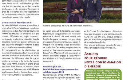 Article dans la Gazette du Luc - mars 2012