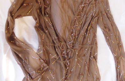 MONSOON gilet veste avec sequins perles et strass taille M