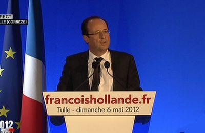 Discours de François Hollande élu Président de la République au soir du 6 mai 2012