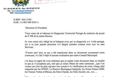 Parc naturel régional de la Sainte Baume, Plan d'Aups et promesse électorale...