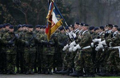 291°Bataillon de Chasseurs de la Brigade franco-allemande à Illkirch-Graffenstaden.