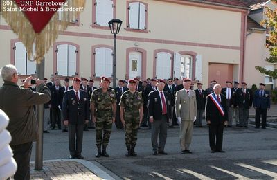 2011-Section UNP de Sarrebourg-Brouderdorff,commémoration de la Saint Michel.