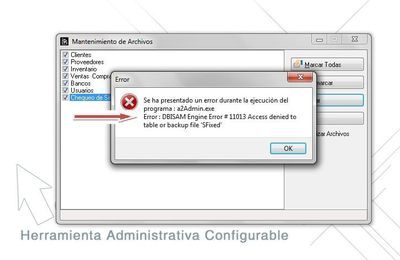 """DBISAM Engine Error #11013 Access Denied to table or backup file """""""""""
