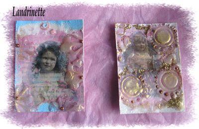 ATC...petite carte reçue....Joyeuses Pâques...
