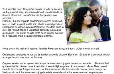Jennifer Freeman frappe son mari ?