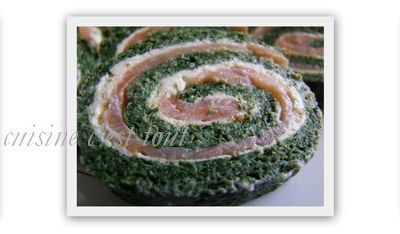 Roulés aux épinards et au saumon fumé