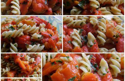 Tortis aux poivrons rouges