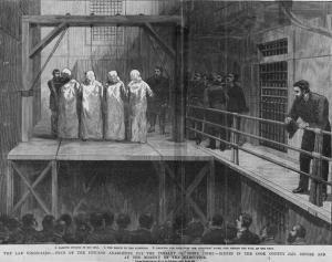 """Eventi libertari. OLT, I Martiri di Chicago. Alle origini del Primo Maggio, da: """"La Brique"""", n° 13, aprile 2009."""