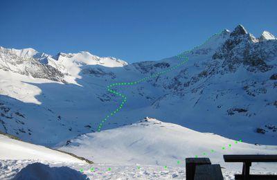 Albaron, par les Evettes (1200m, ski 3.1)