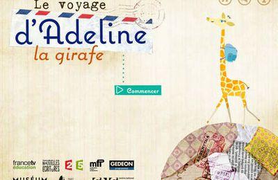 Le voyage d'Adeline la girafe : une jolie application gratuite pour découvrir les animaux du monde. Dès 5/6 ans.