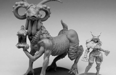 Kingdom Death; The Nightmare Ram and the Sunstalker people