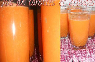 jus de carottes et orange